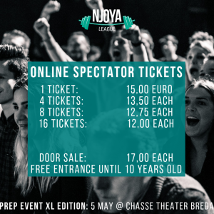 Online Spectator tickets 5 May