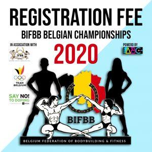 BIFBB Belgische kampioenschappen registration fee