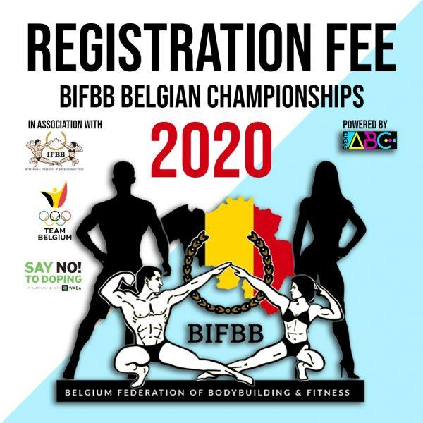 BIFBB Belgische kampioenschappen registration fee 2020